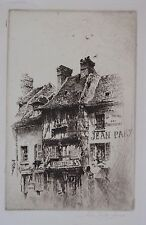 "JOHN TAYLOR ARMS (1887-1953) RARE 1916 PENCIL SIGNED L/E ETCHING ""VETERANS"" NICE"