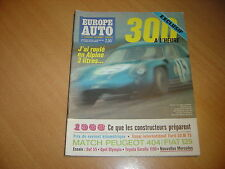 Europe Auto N° 11 Ford 20 M TS.Alpine 3 Litres.Fiat 125 / Peugeot 404