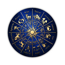 """Novelty Sign - Zodiac Signs, Psychic Reader, Astrology - 12"""" Round Metal"""