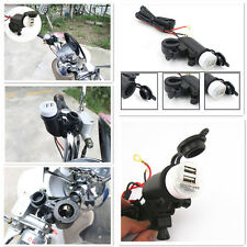 Motorcycle 12-24V Cigarette Lighter+5V Double USB Power Interface For Moto Guzzi