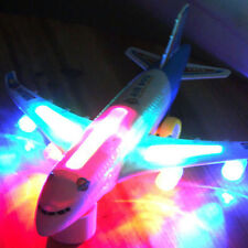 Kids Boy Fancy Toy Electric Airplane Toy with Flashing Light and Sound Aeroplane
