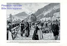 Viehmarkt Zell am See XL Kunstdruck 1927 Pinzgau Gau Ausstellung Tracht Kühe +