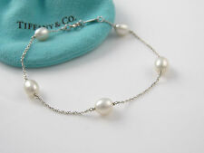 """Tiffany & Co Silver Peretti Pearl by the Yard 9 mm 7.625""""  Bracelet - EXCELLENT!"""
