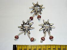 3 Applikationen f. Puppenkleid Edelweiß für  Dirndel Trachten Oktoberfest Perlen