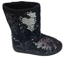 CLASSIC  SPARKLES  DOUBLE SHADE SEQUINS Midnight  Sequin Boots COMFORTABLE SOLE: