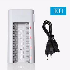 8 Slot LeD Rapid Smart Battery Charger for AA AAA NiMH NiCD Rechargeable Battery