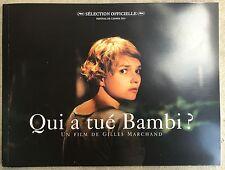 Dossier de Presse QUI A TUE BAMBI Gilles Marchand LAURENT LUCAS *c