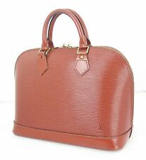 Authentic LOUIS VUITTON Alma Brown Epi Leather Hand Bag Purse #23254