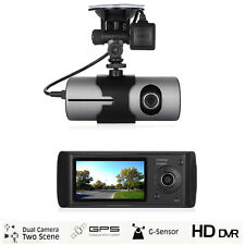 "2.7"" 1080P Vehicle Car DVR Camera Video Recorder Dash Cam G-Sensor GPS Dual Lens"