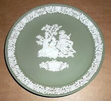 Wedgwood Green Jasperware 1986 Valentines Limited Edition Plate