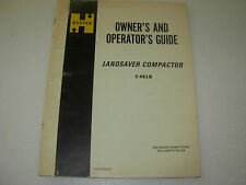 Hyster C451B Compactor Owner's Operator's Guide Manual