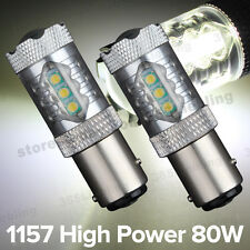 2x Super White High Power 80W 1920LMS 1157 BAY15D Tail Brake Stop LED Light Bulb
