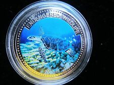 "Palau 1 dollar 2008 ""Endangered Wildlife Series - Hawksbill Turtle"" Proof"