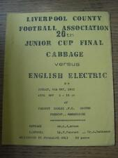 08/05/1983 Liverpool County Junior Cup Final: CABBAGE V English Electric [a pre