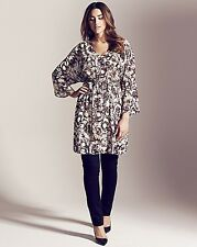 Project D London Empire Belted Print Kaftan Tunic Size 18 rrp £80 Box3015 D