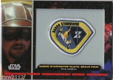 STAR WARS GALACTIC FILES PR-8 EMBROIDERED PATCH NABOO STARFIGHTER BRAVO FOUR