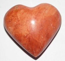 BEAUTIFUL CRYSTAL HEALING RED JASPER  STONE CARVED AS A HEART - ITEM IN USA