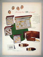 Swank Cuff Links, Belt, Wallet PRINT AD - 1952 ~~ Father's Day gift