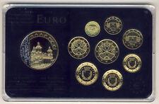 MALTA - EURO Kursmünzensatz 2008 VEREDELT mit GOLD und RHODIUM (9945/761N)