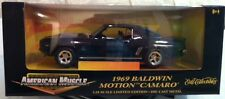 ERTl 1/18 1969 Camaro RS Balwin Motion Black American Muscle Limited Edition