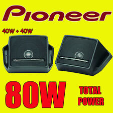 PIONEER 80W TOTAL BOX TYPE SHELF REAR DECK CAR/VAN/CARAVAN/BOAT/POD SPEAKERS NEW