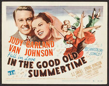 """In the Good Old Summertime 1949 Title Lobby Card 11""""x14"""" VF 7.5 Judy Garland"""
