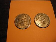 """(2) CHUCKY CHEESE TOKENS - 1990 &1991 - """"Where a Kid can be a Kid"""""""