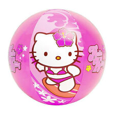 "20"" Inflatable Beach Ball Toy Sanrio Hello Kitty Surfing Aloha Hawaiian NEW"