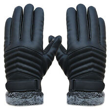 HOT Men Winter Leather Anti Slip Thermal Outdoor Sports Warm Touch Screen Gloves