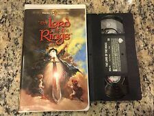 THE LORD OF THE RINGS RARE OOP CLAMSHELL BIG BOX VHS 1978 RANKIN & BASS ANIMATED