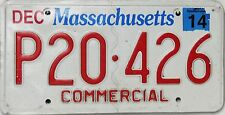 Massachusetts  License Plate,  Original  Kennzeichen  USA  P20 426  ORIGINALBILD