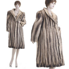 Excellent! Large! Sexy & Glam! European Fitch Fur A-Shape Swing Coat