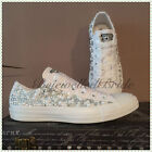 Wedding converse, all white with crystal and pearl sides, all sizes available