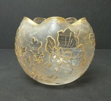 FRENCH ART GLASS - LEGRAS, ST. DENIS, MONT JOYE CAMEO GLASS ROSE BOWL, c. 1900
