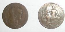 Münzen Frankreich 1902- 5 Centimes Kupfer 2 Stück im SET Durchmesser=24mm