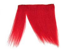 CLIP-IN HUMAN HAIR FRINGE BANGS CYBERLOX NEON RED UNCUT 8""
