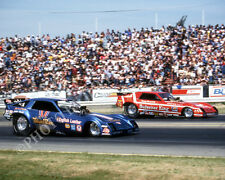 FUNNY CAR PHOTO BLUE MAX & BERNSTEIN DRAG RACING FREMONT 1981 NHRA