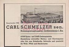 LICHTENTANNE Werbung 1940, Carl Schmelzer sen. Kammgarn-Spinnerei Merino Cheviot