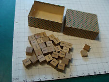 vintage toy: EARLY WOODEN GAME -WORD- CUBES, in non original box COOL