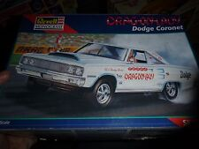 REVELL 1967 DODGE CORONET SHIRLEY SHAHAN DRAG-ON LADY 1/25 MODEL KIT OPEN