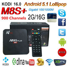 2G/16G M8S+ Plus Android 5.1 TV Box KODI 1 Year World 1000 Channels IPTV Account
