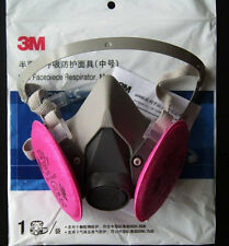 Free Shipping 3M 6200 Spray Paint/Dust Mask respirator+3M 2091 P100 Filters