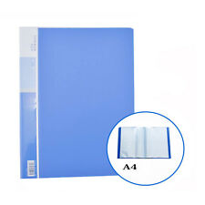 A4 20 Pockets Presentation Document File Folder Display Transparent Vertical #JP