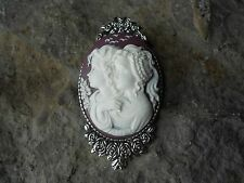 -SISTERS, MOTHER, DAUGHTER, GENERATIONS, FRIENDS CAMEO BROOCH / PIN -GIFTS, XMAS