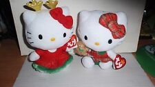 SET OF 2 2014 CHRISTMAS TY HELLO KITTY BEANBAGS NWT'S ~ GINGERBREAD TOY