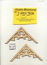 Apex Trim - AP41 wooden dollhouse miniature 1:12 scale USA made 2pcs