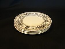 Wedgwood China - Columbia Black  - Set of 4 Bread Plates - Black and White