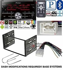 Pioneer Double Din Media Player Radio Bluetooth Dash Install Kit Harness NO CD