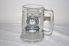 2009 Pittsburgh Penguins Stanley Cup Champions Clear Glass Mug Beer Cup Hockey
