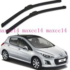 "2X Windscreen Window windshield Wiper Blades For Peugeot 308 2008-2013 28""+26"""